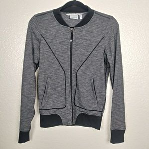 Athleta Heathered Gray Bomber Jacket. Size XXS